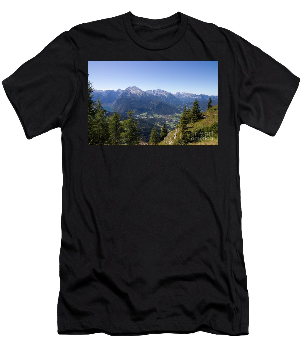 Kehlstein Men's T-Shirt (Athletic Fit) featuring the digital art Alps by Jovanovic Dragan