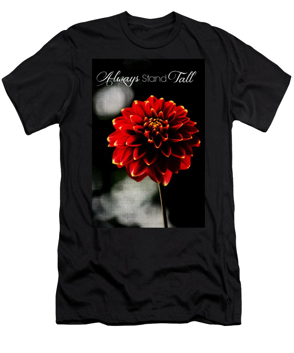 Always Stand Tall Men's T-Shirt (Athletic Fit) featuring the photograph Always Stand Tall by Chastity Hoff