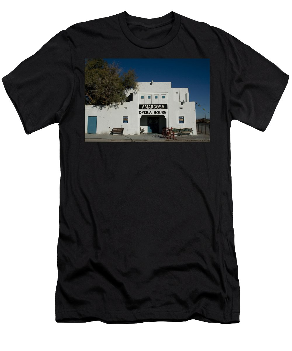 Amargosa Men's T-Shirt (Athletic Fit) featuring the photograph Amargosa Opera House Death Valley Img 0021 by Greg Kluempers