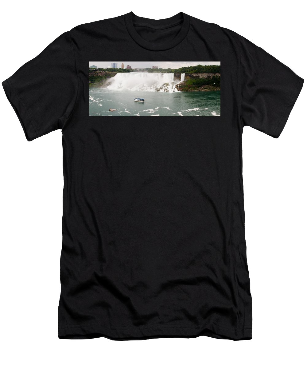3scape Men's T-Shirt (Athletic Fit) featuring the photograph American Falls by Adam Romanowicz