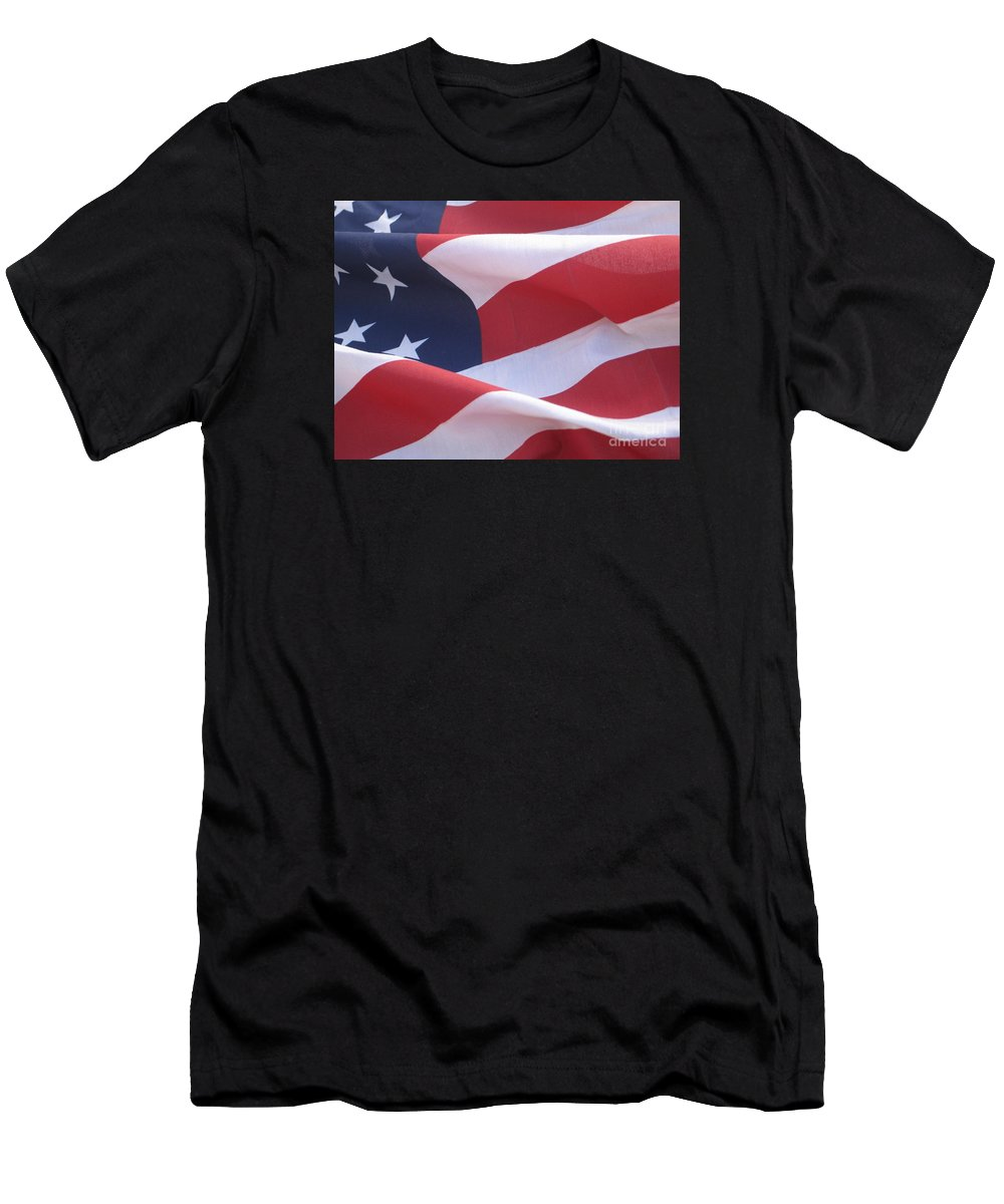 Photograph Men's T-Shirt (Athletic Fit) featuring the photograph American Flag  by Chrisann Ellis