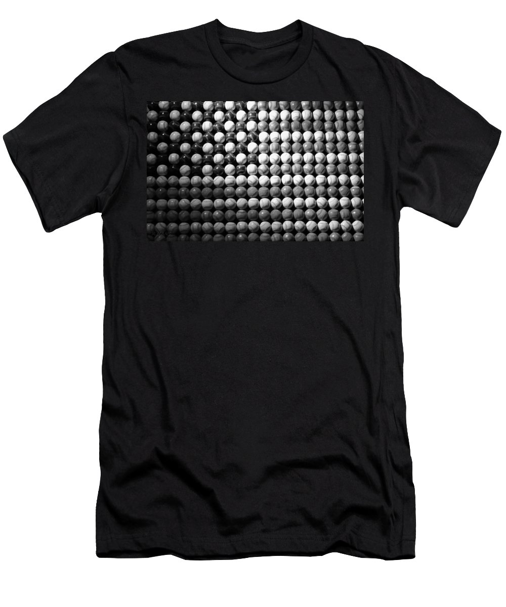 Baseball Men's T-Shirt (Athletic Fit) featuring the photograph American Pastime In Black And White by Rob Hans