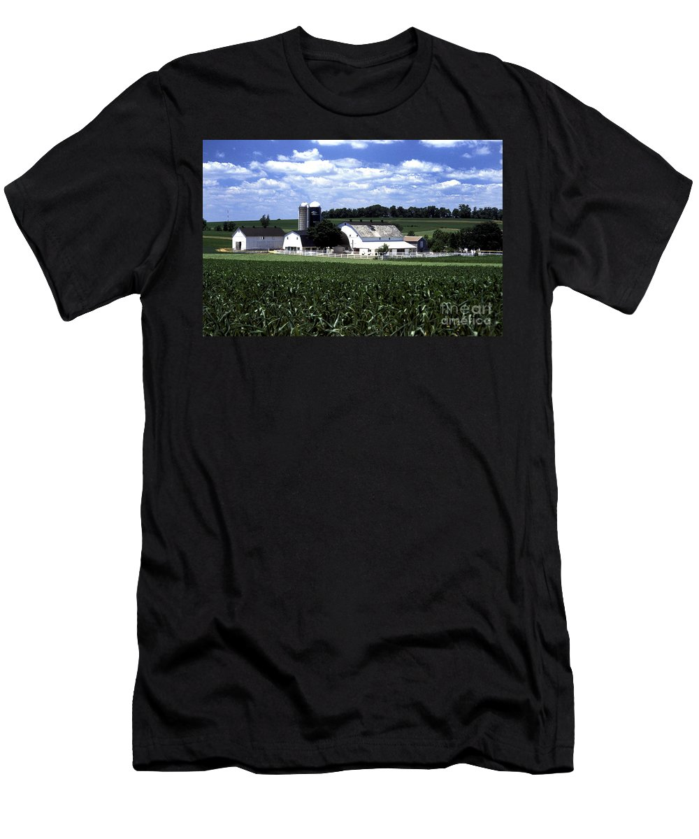 Amish Men's T-Shirt (Athletic Fit) featuring the photograph Amish Country - 38 by Paul W Faust - Impressions of Light