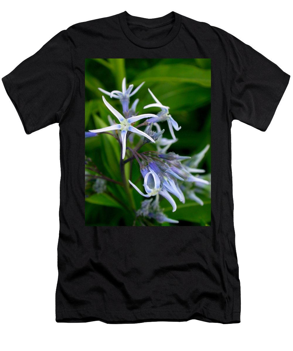 Amsonia Hubrichtii Blue Stars Men's T-Shirt (Athletic Fit) featuring the photograph Amsonia Blue Stars by Cynthia Wallentine