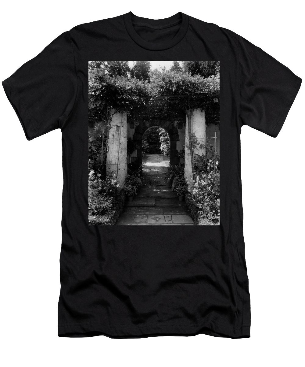 Exterior T-Shirt featuring the photograph An Archway In The Garden Of Mrs. Carl Tucker by Harry G. Healy