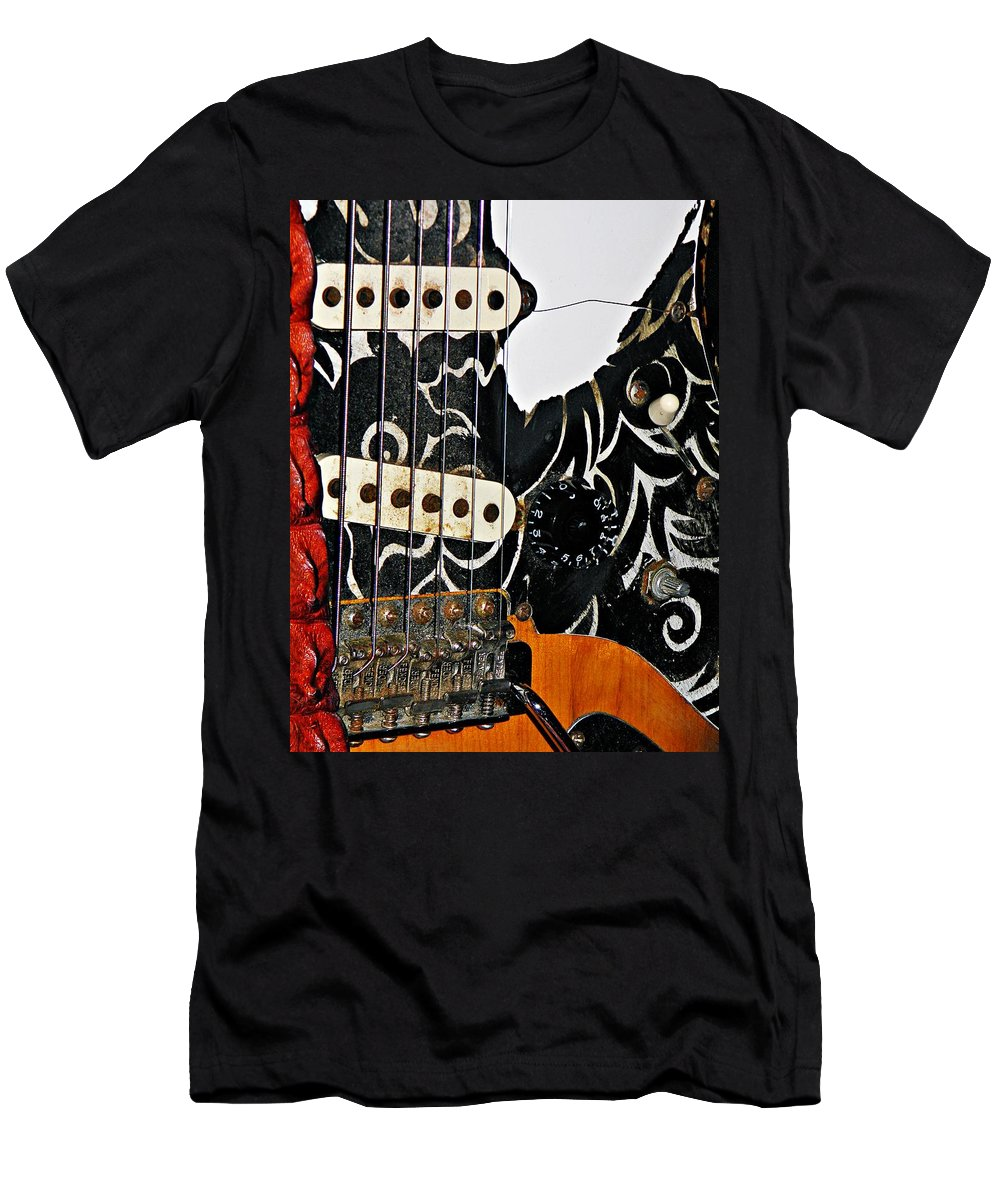 Fender Men's T-Shirt (Athletic Fit) featuring the photograph An Axe To Grind by Chris Berry