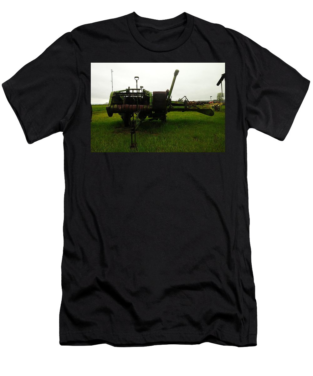 Farm Equipment Men's T-Shirt (Athletic Fit) featuring the photograph An Old Bailor by Jeff Swan