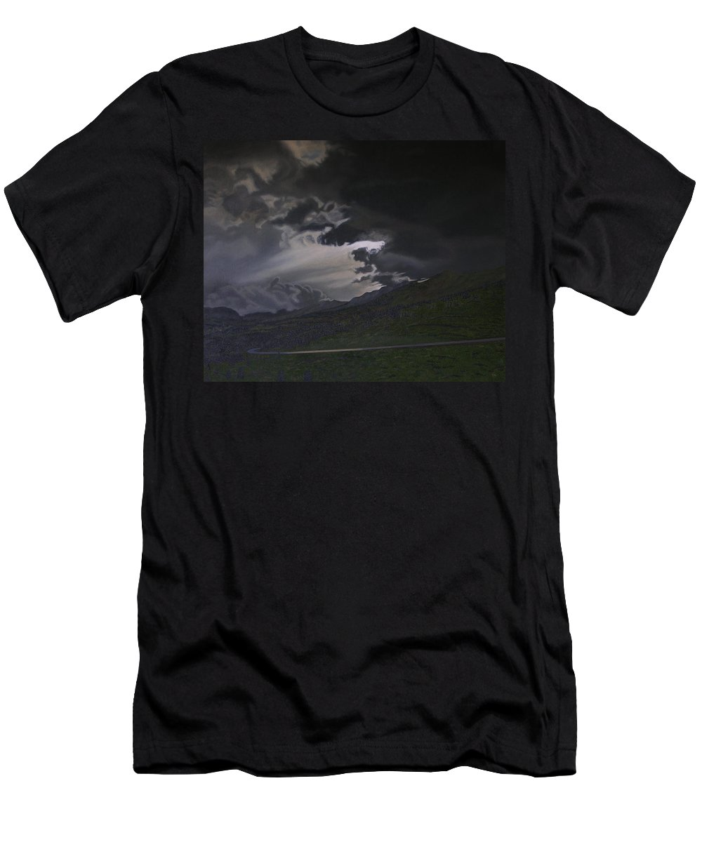 Landscape Men's T-Shirt (Athletic Fit) featuring the painting An Opening by Thu Nguyen