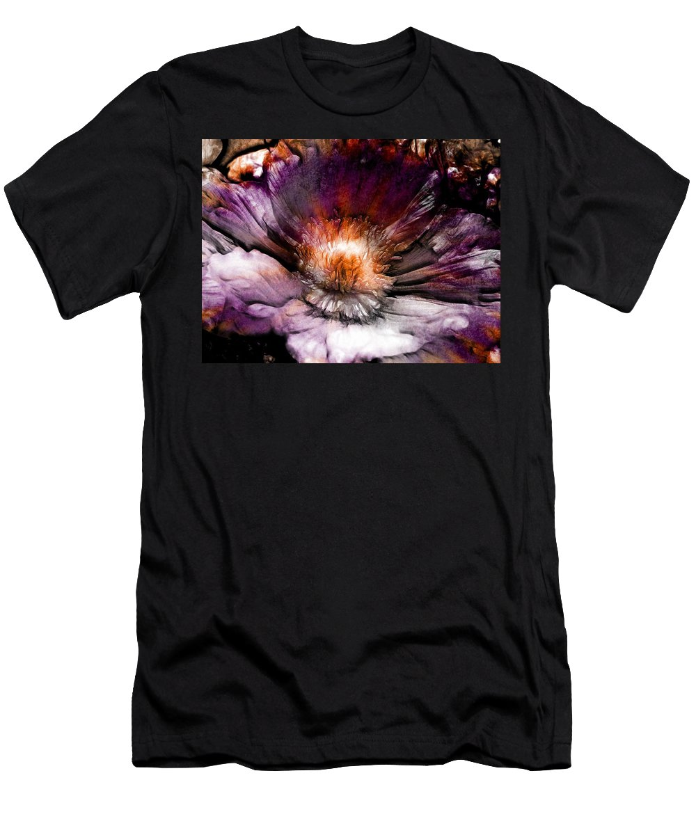 Flowers Men's T-Shirt (Athletic Fit) featuring the digital art Ancient Flower 1 by Lilia D
