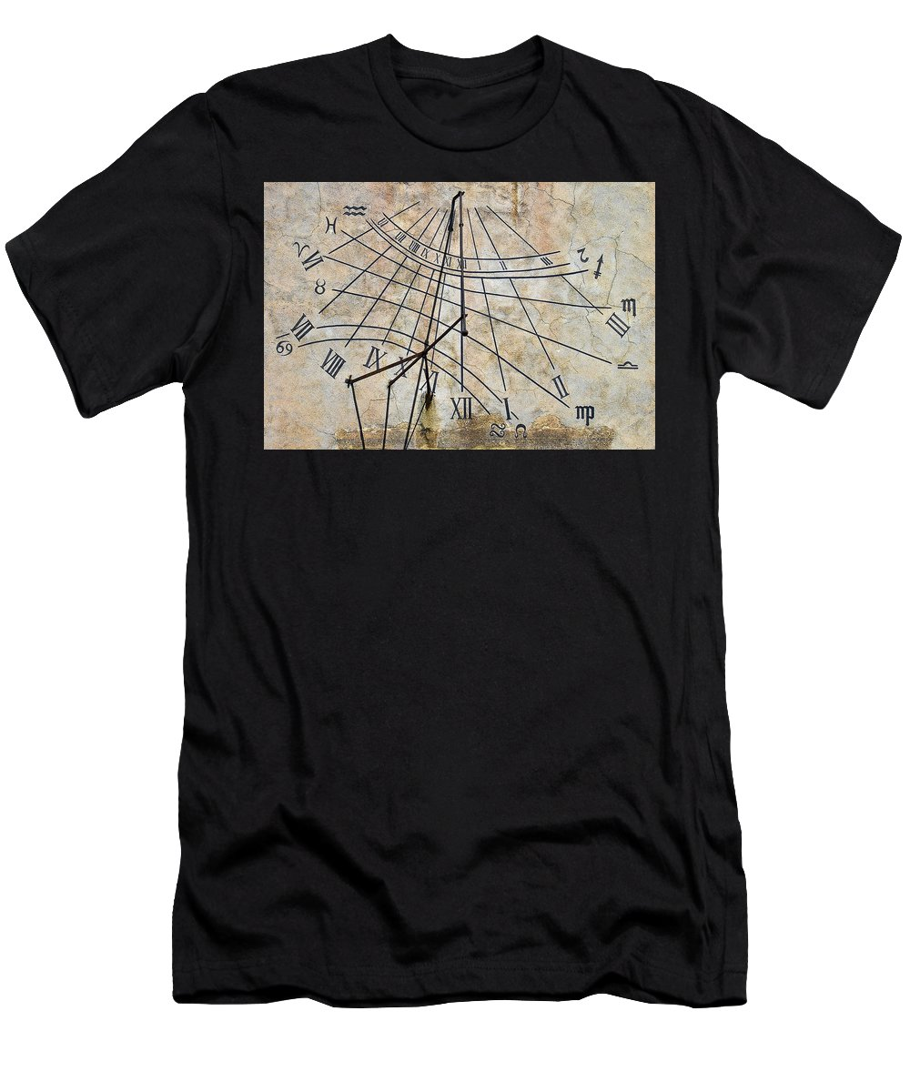 Ancient Men's T-Shirt (Athletic Fit) featuring the photograph Ancient Sundial by Marcia Colelli