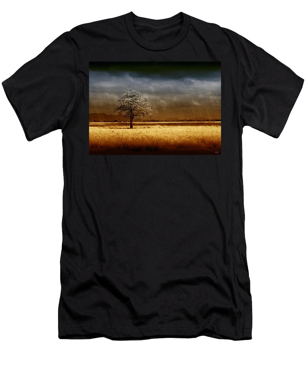 Landscapes Men's T-Shirt (Athletic Fit) featuring the photograph And The Rains Came by Holly Kempe