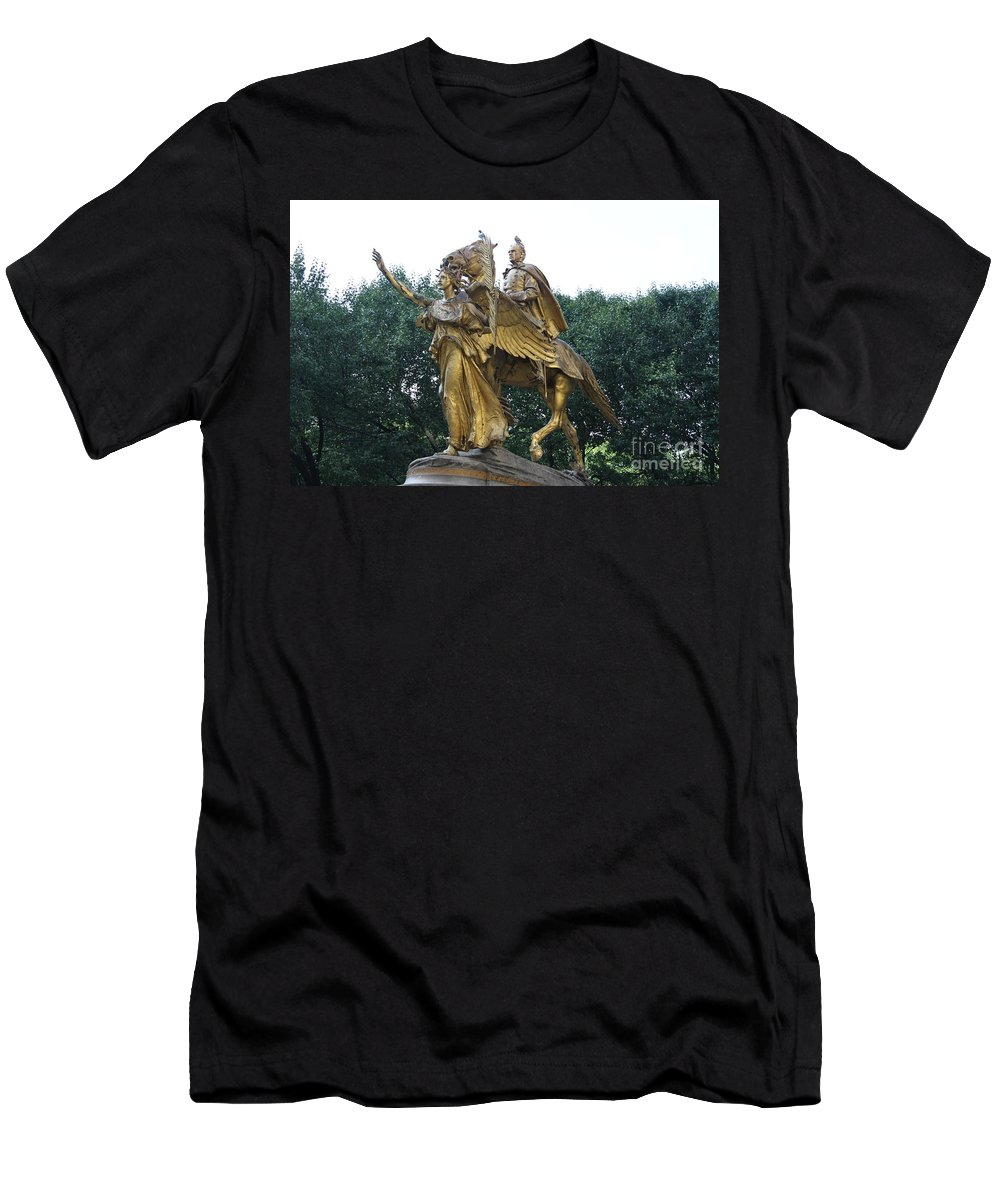 Angel Men's T-Shirt (Athletic Fit) featuring the photograph Angel And Tecumseh Sherman by Christiane Schulze Art And Photography