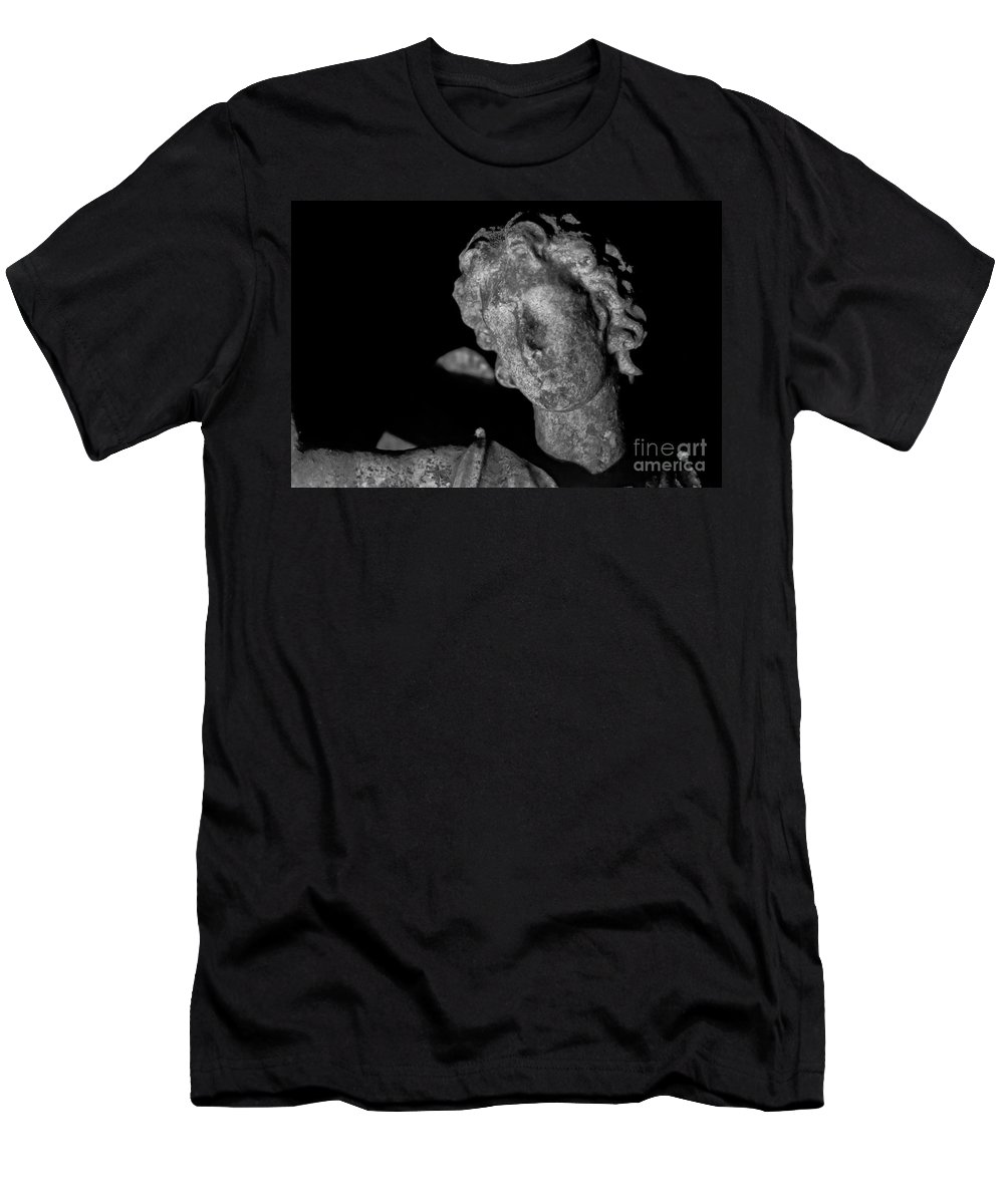 Cemetery Men's T-Shirt (Athletic Fit) featuring the photograph Angel In The Night by Jeffrey Miklush