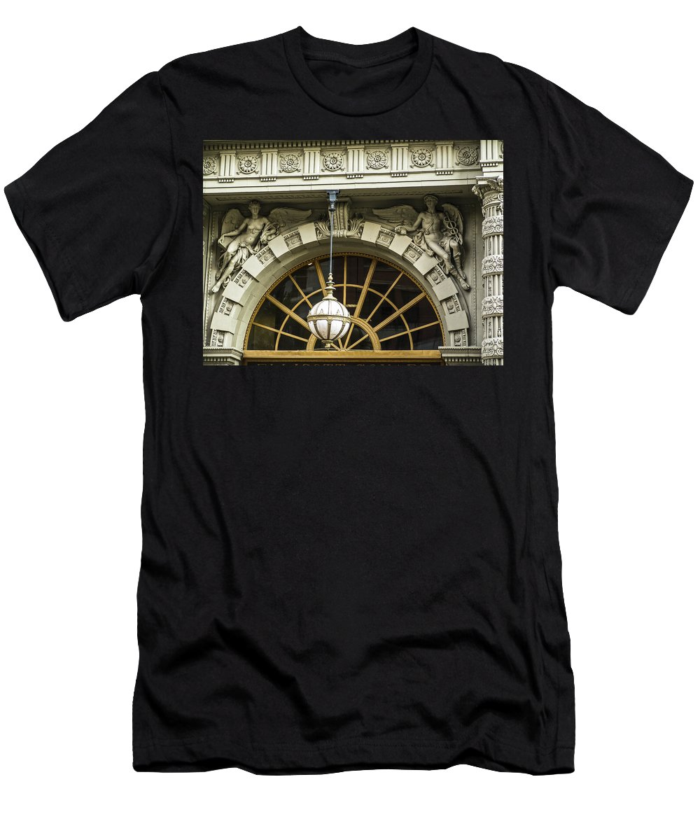 Decorative Detail Men's T-Shirt (Athletic Fit) featuring the photograph Angelic Door Topper by Eric Swan