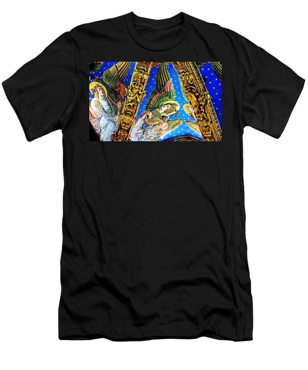Angels Men's T-Shirt (Athletic Fit) featuring the photograph Angels On High by Keith Armstrong