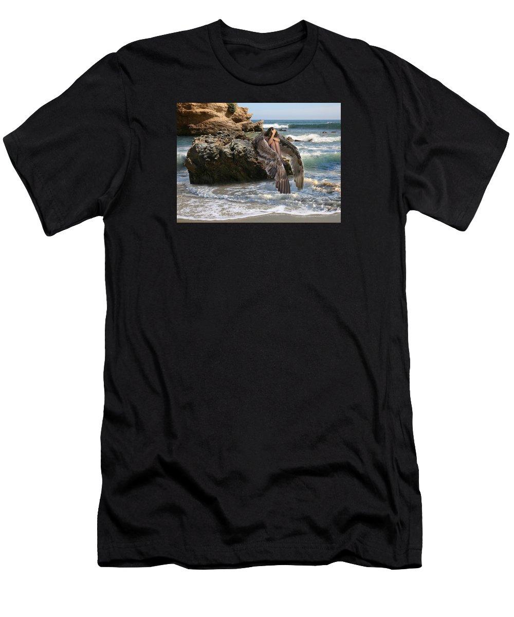 Alex-acropolis-calderon Men's T-Shirt (Athletic Fit) featuring the photograph Angels- Shhh Stand Still And Be Quiet by Acropolis De Versailles