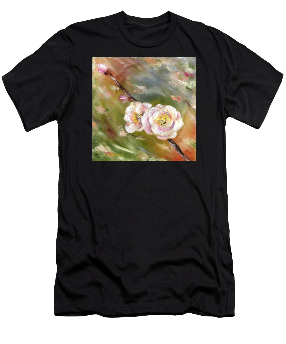 Flower Men's T-Shirt (Athletic Fit) featuring the painting Anniversary by Hiroko Sakai