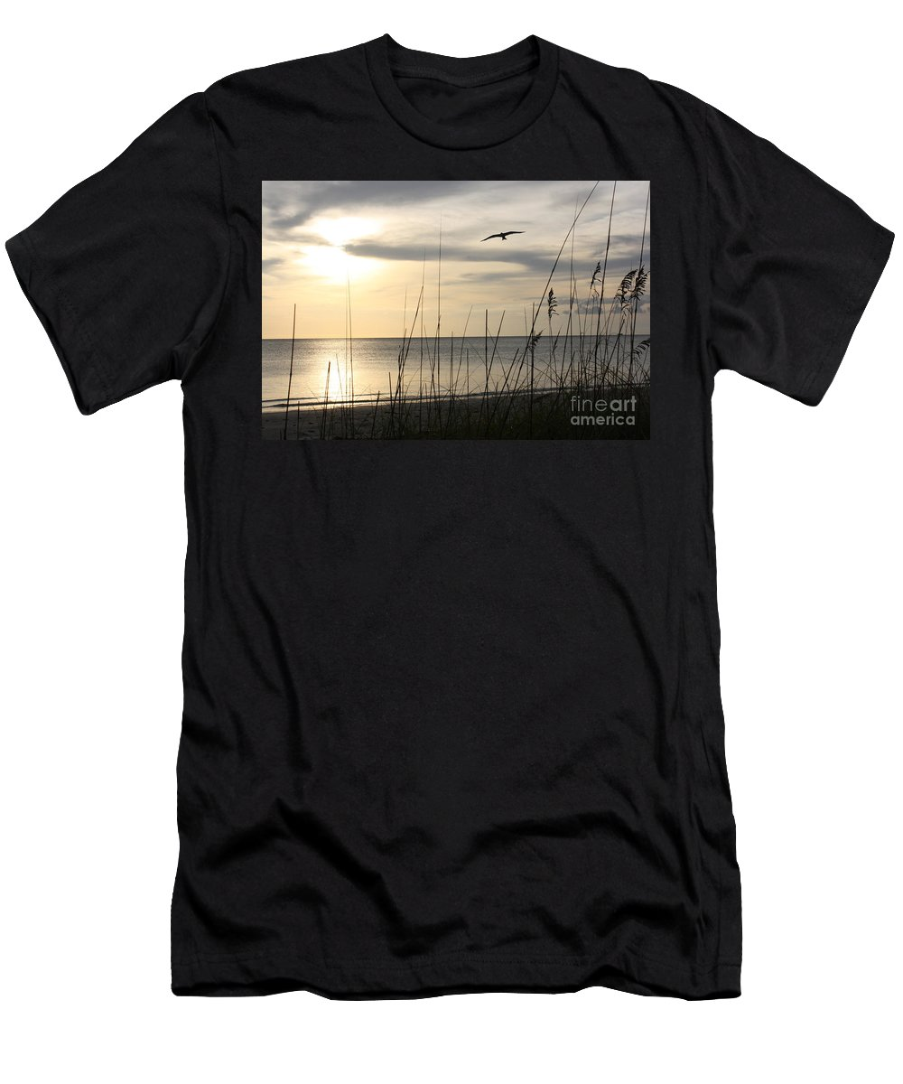 Evening Men's T-Shirt (Athletic Fit) featuring the photograph Another Day by Irina Davis