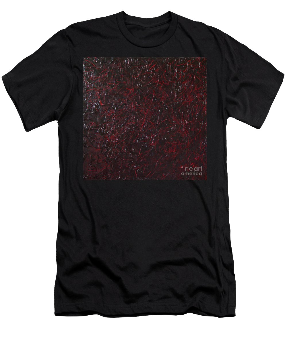 Abstract Men's T-Shirt (Athletic Fit) featuring the painting Another Shedding by Dean Triolo