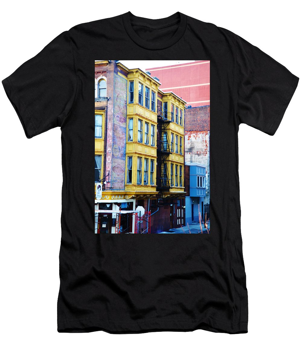 Another Slice Of Philly Men's T-Shirt (Athletic Fit) featuring the photograph Another Slice Of Philly by Bill Cannon