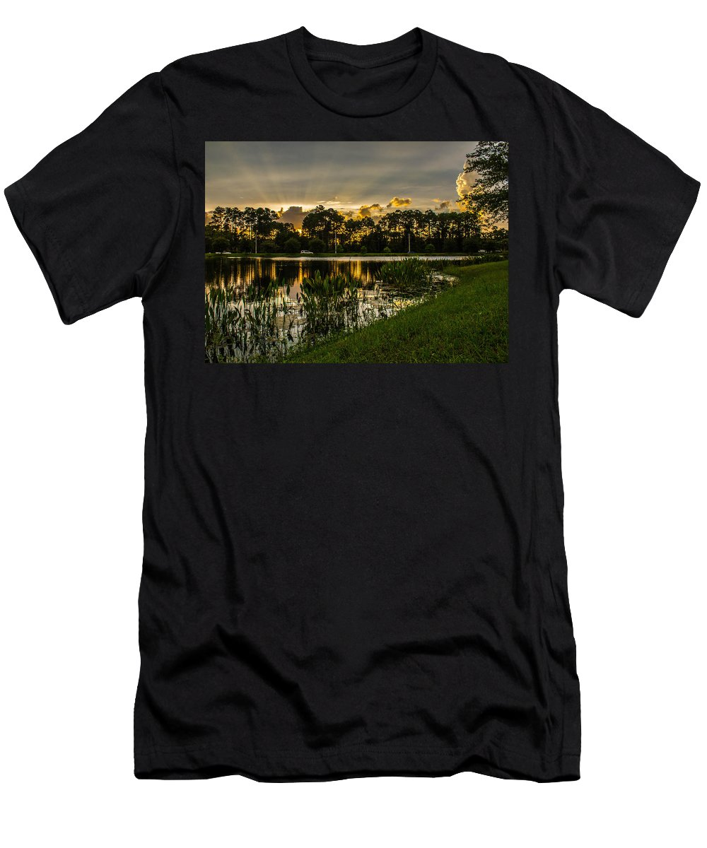 Sunshine Men's T-Shirt (Athletic Fit) featuring the photograph Another Sun by Tyson Kinnison