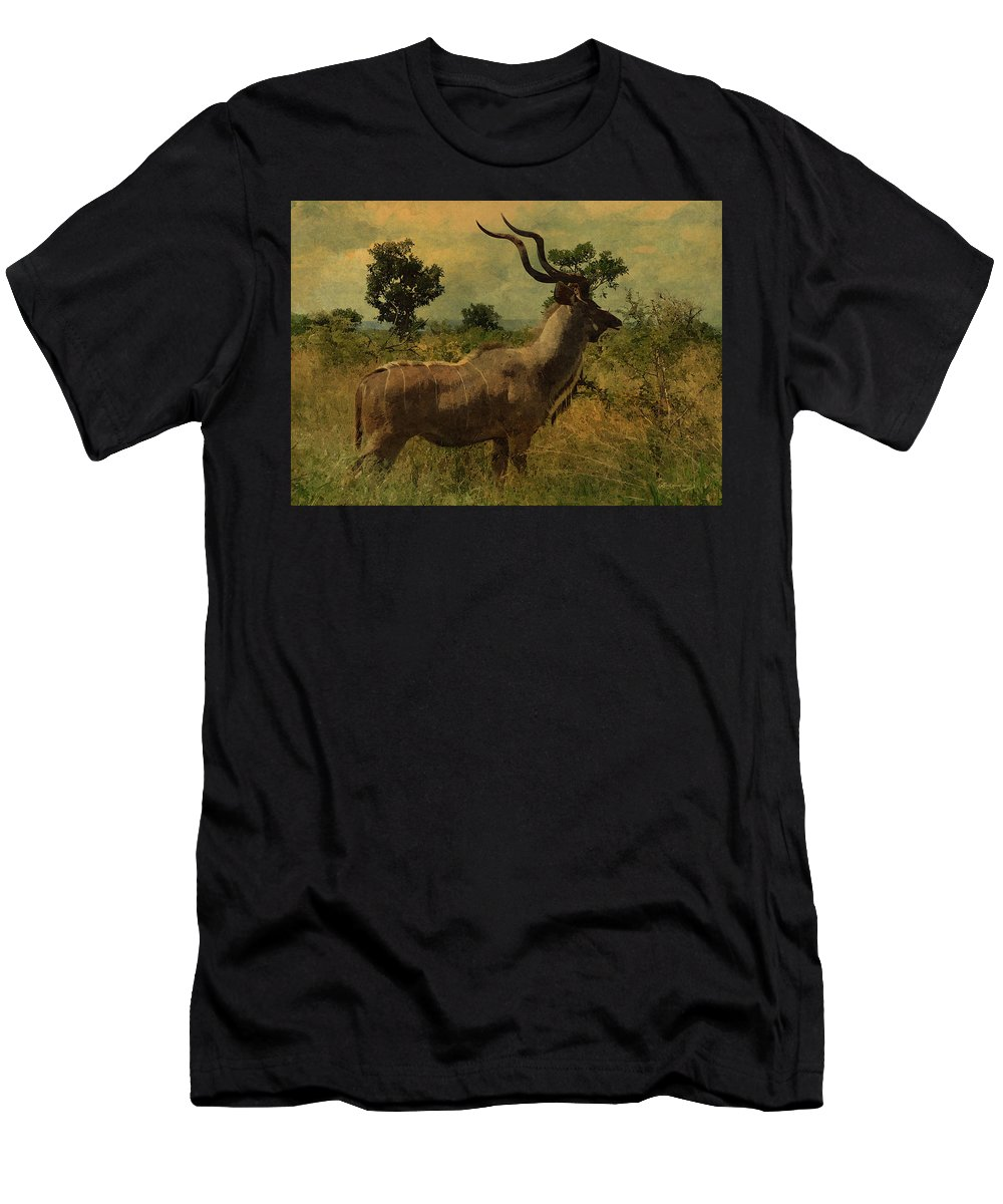 Antelope Men's T-Shirt (Athletic Fit) featuring the photograph Antelope by Ericamaxine Price