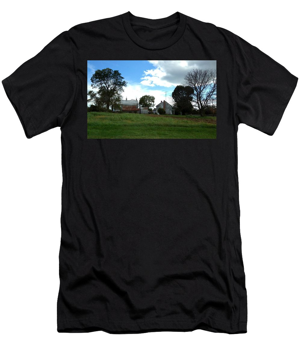 Antietam Battlefield Men's T-Shirt (Athletic Fit) featuring the photograph Antietam Battlefield by Lois Ivancin Tavaf