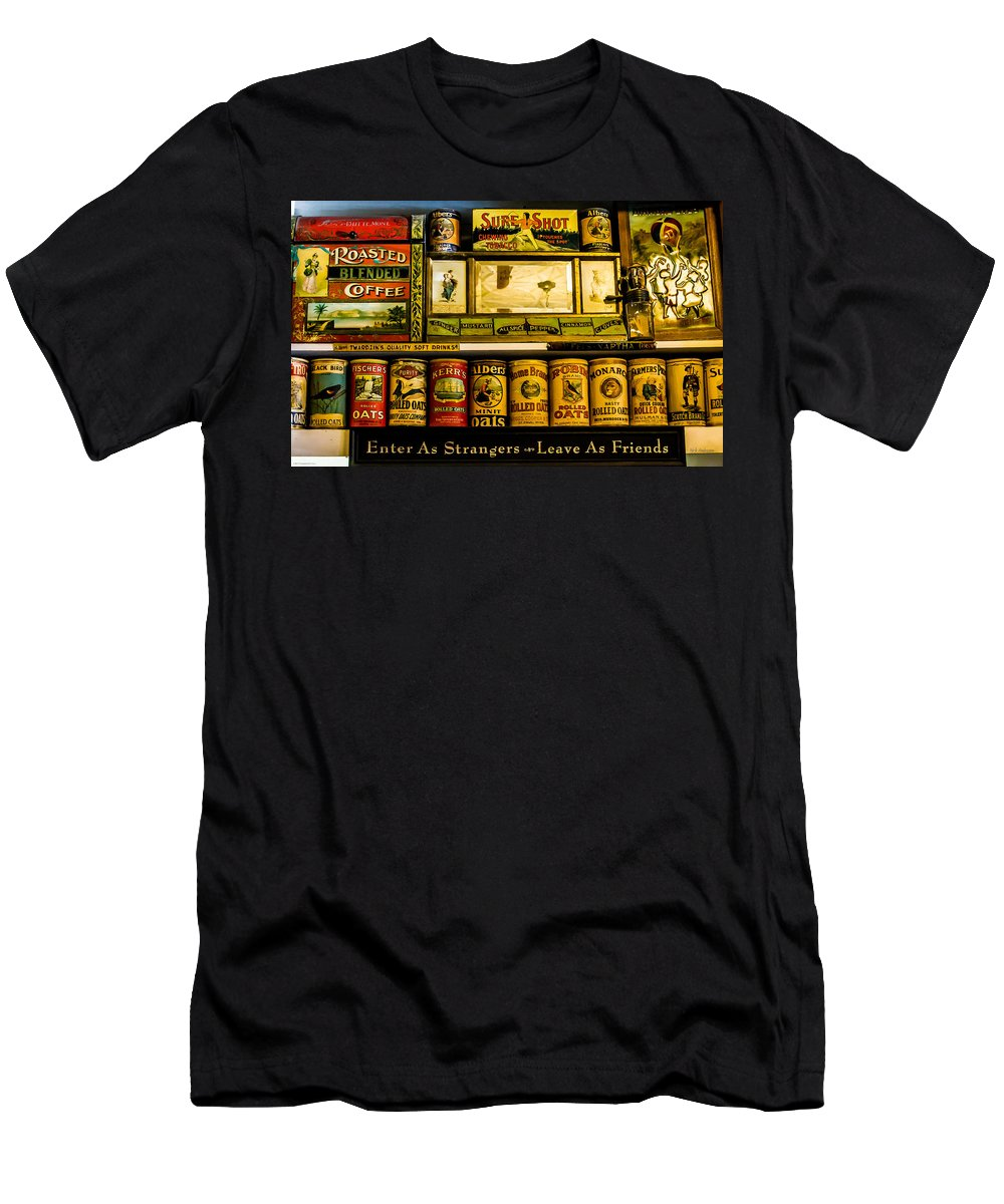 Antique Men's T-Shirt (Athletic Fit) featuring the photograph Antique Grocery Shelf by Mick Anderson