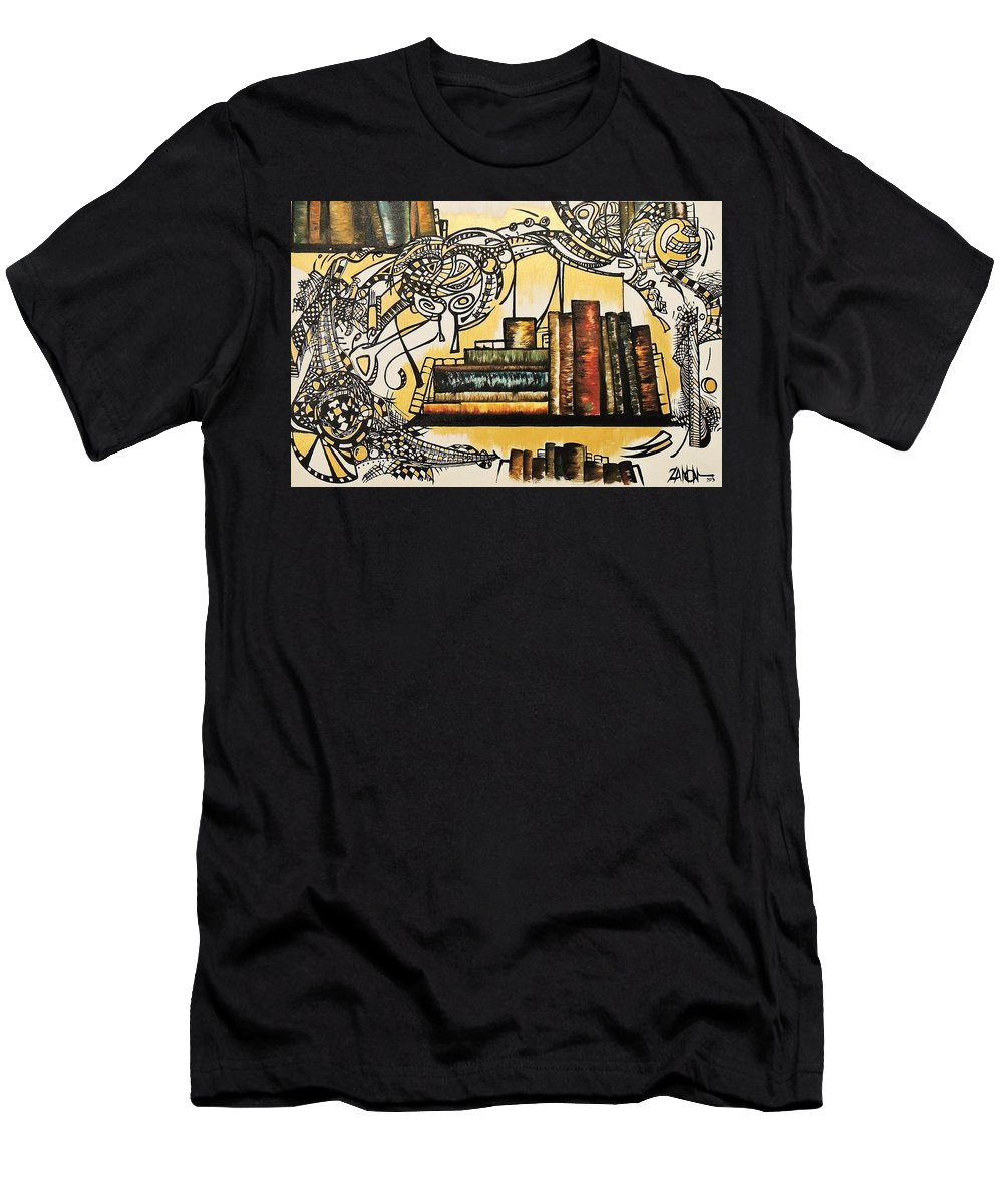 Books Men's T-Shirt (Athletic Fit) featuring the painting Antique by Ivan Zanon