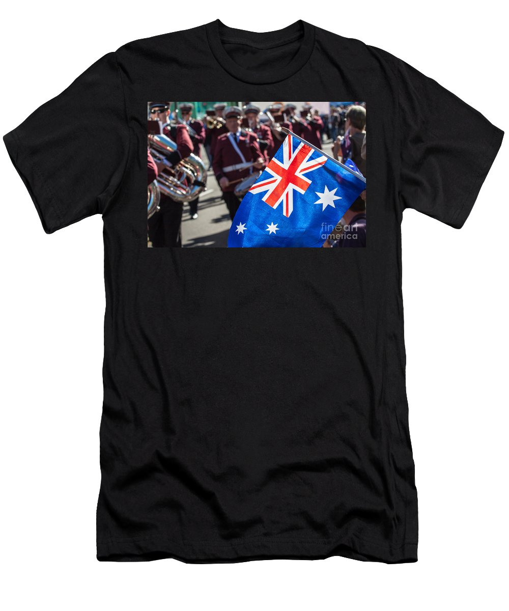 Antique Men's T-Shirt (Athletic Fit) featuring the photograph Anzac Day In Perth by Mariusz Prusaczyk