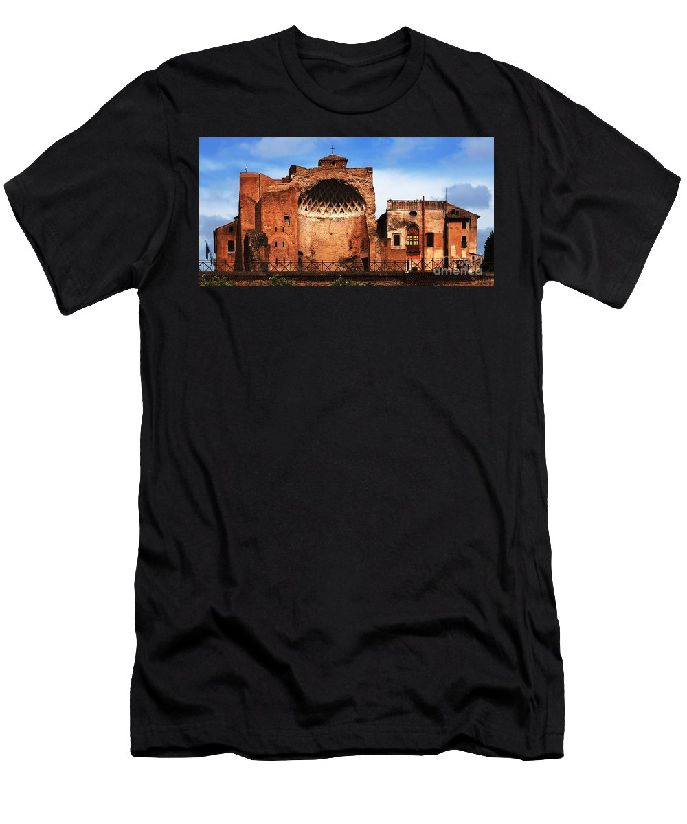 Italy Men's T-Shirt (Athletic Fit) featuring the photograph Architecture Of Italy by Bob Christopher