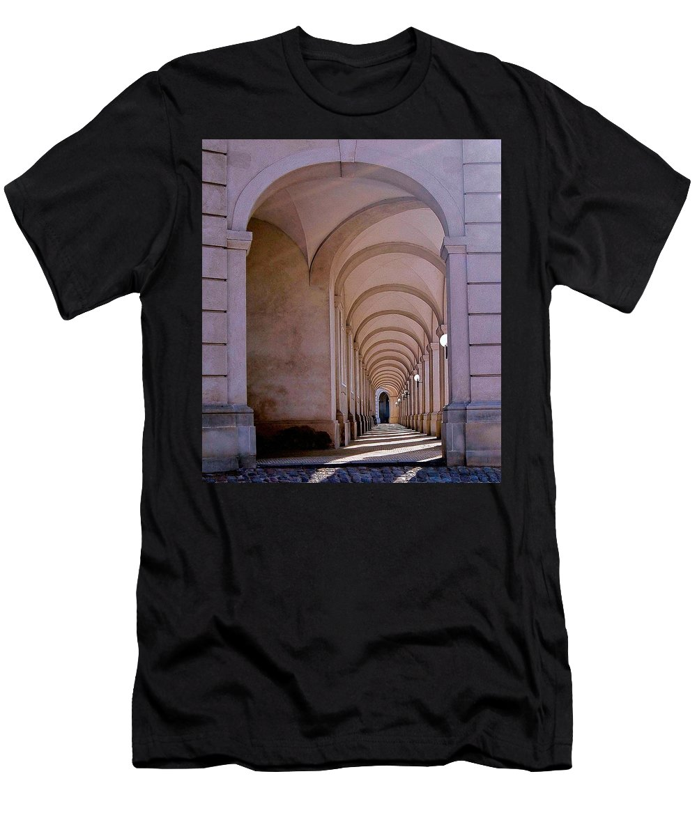 Arch Men's T-Shirt (Athletic Fit) featuring the photograph Archway by TNZKA Photography