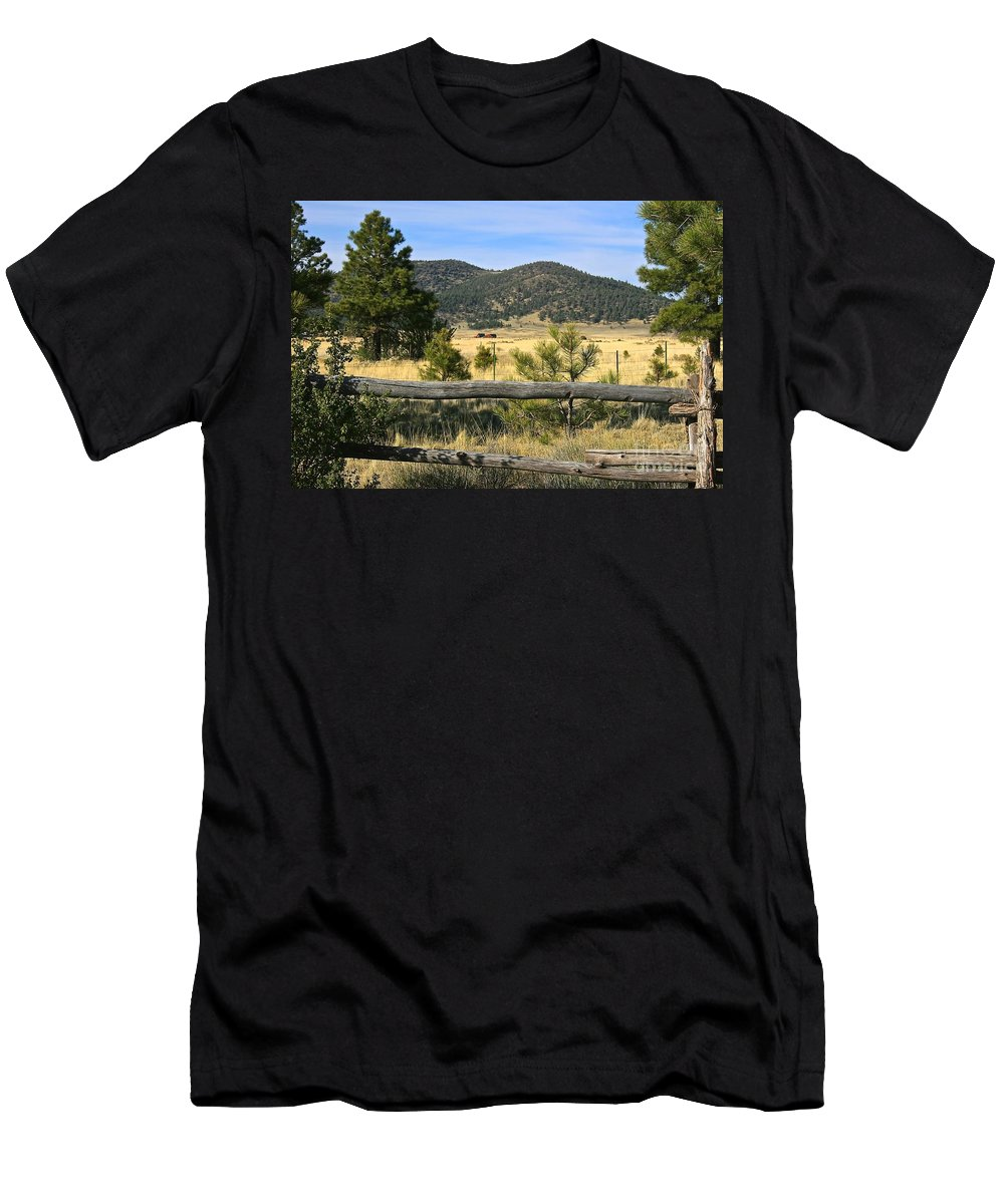 Arizona Men's T-Shirt (Athletic Fit) featuring the photograph Arizona Mountains by Lori Amway