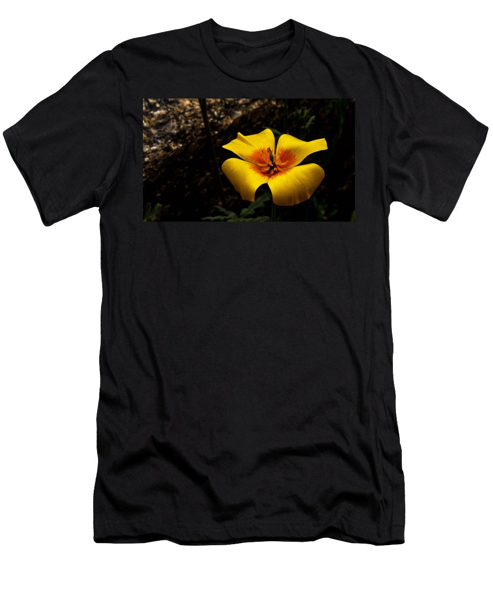 Flower Men's T-Shirt (Athletic Fit) featuring the photograph Arizona Poppy by Patrick Moore