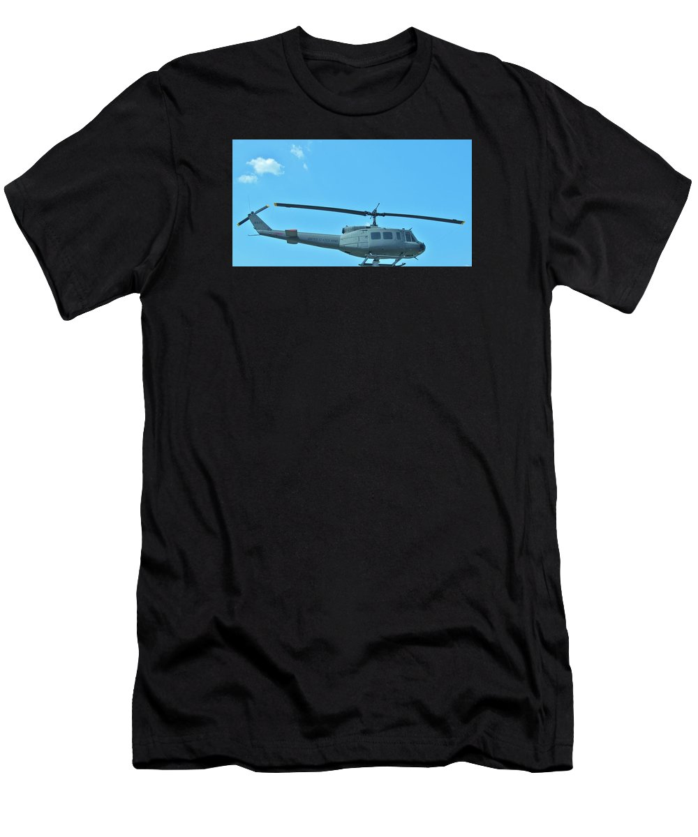 Helicopters.helicopter Pictures Posters Paintings Photographs Greeting Cards Men's T-Shirt (Athletic Fit) featuring the photograph Army Helicopter by Donna Wilson