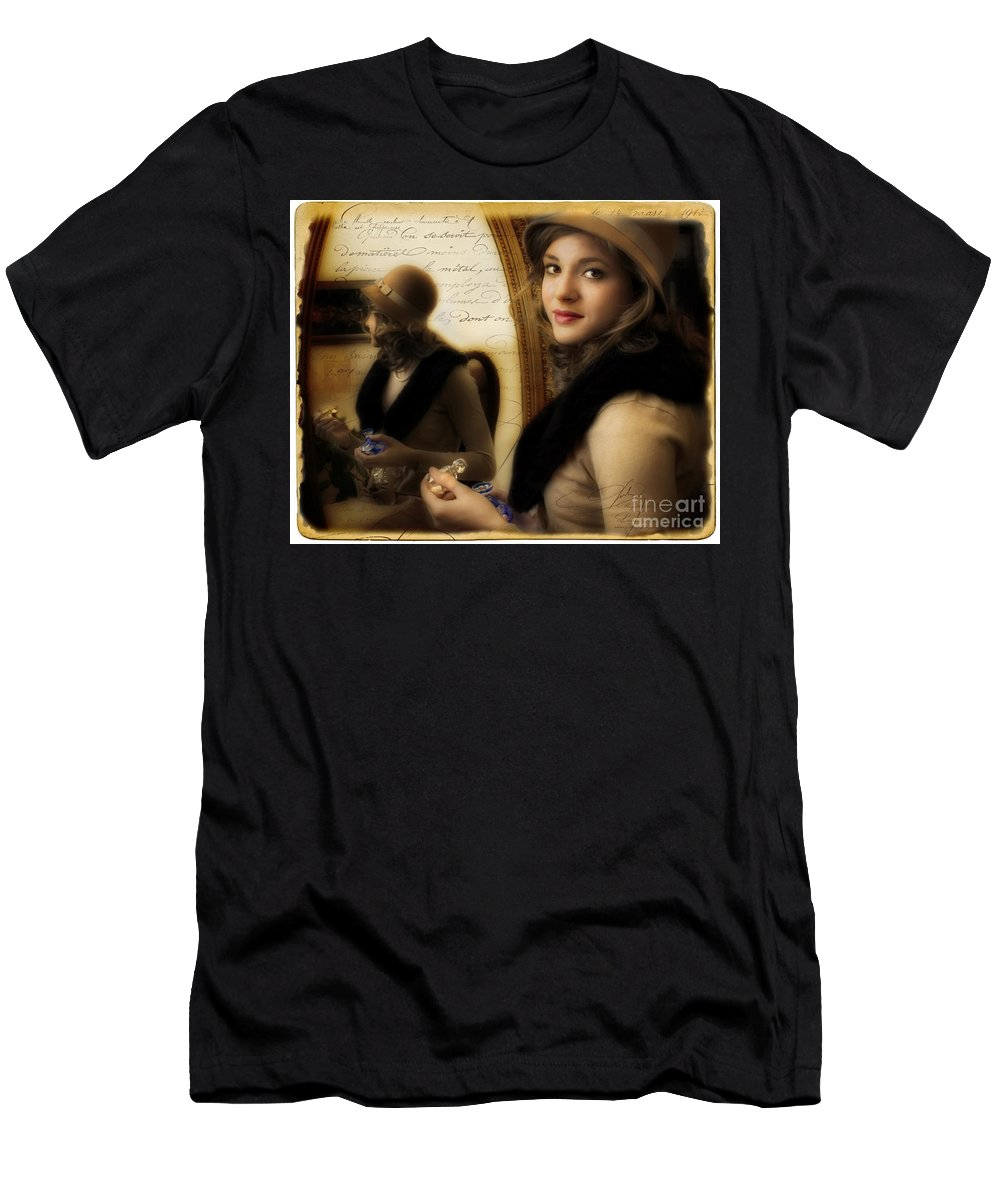 Woman Men's T-Shirt (Athletic Fit) featuring the photograph Aromatique by Jean Hildebrant