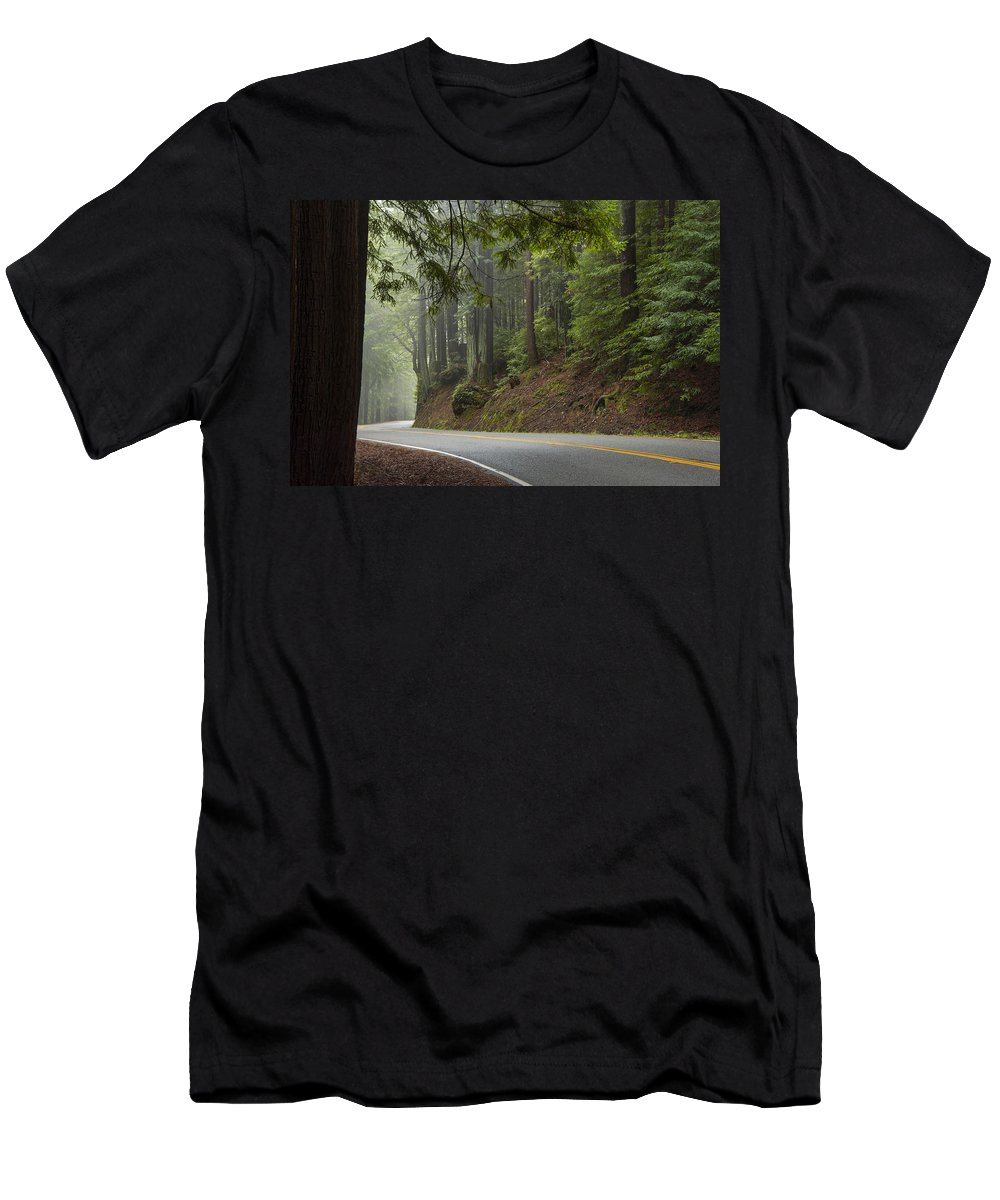 California Men's T-Shirt (Athletic Fit) featuring the photograph Around The Bend by Dustin LeFevre