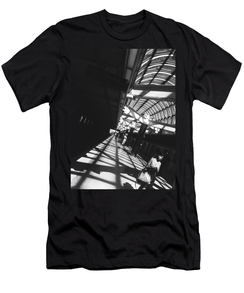 Black And White Men's T-Shirt (Athletic Fit) featuring the photograph Arrested By The Light by Valerie Rosen