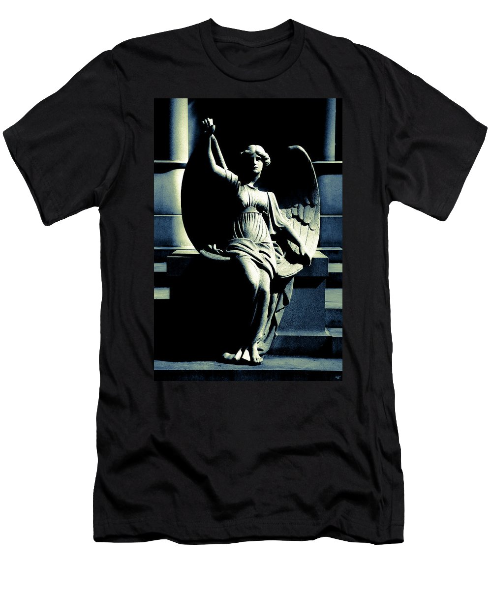 Angel Men's T-Shirt (Athletic Fit) featuring the photograph Art Deco Angel by Chris Lord