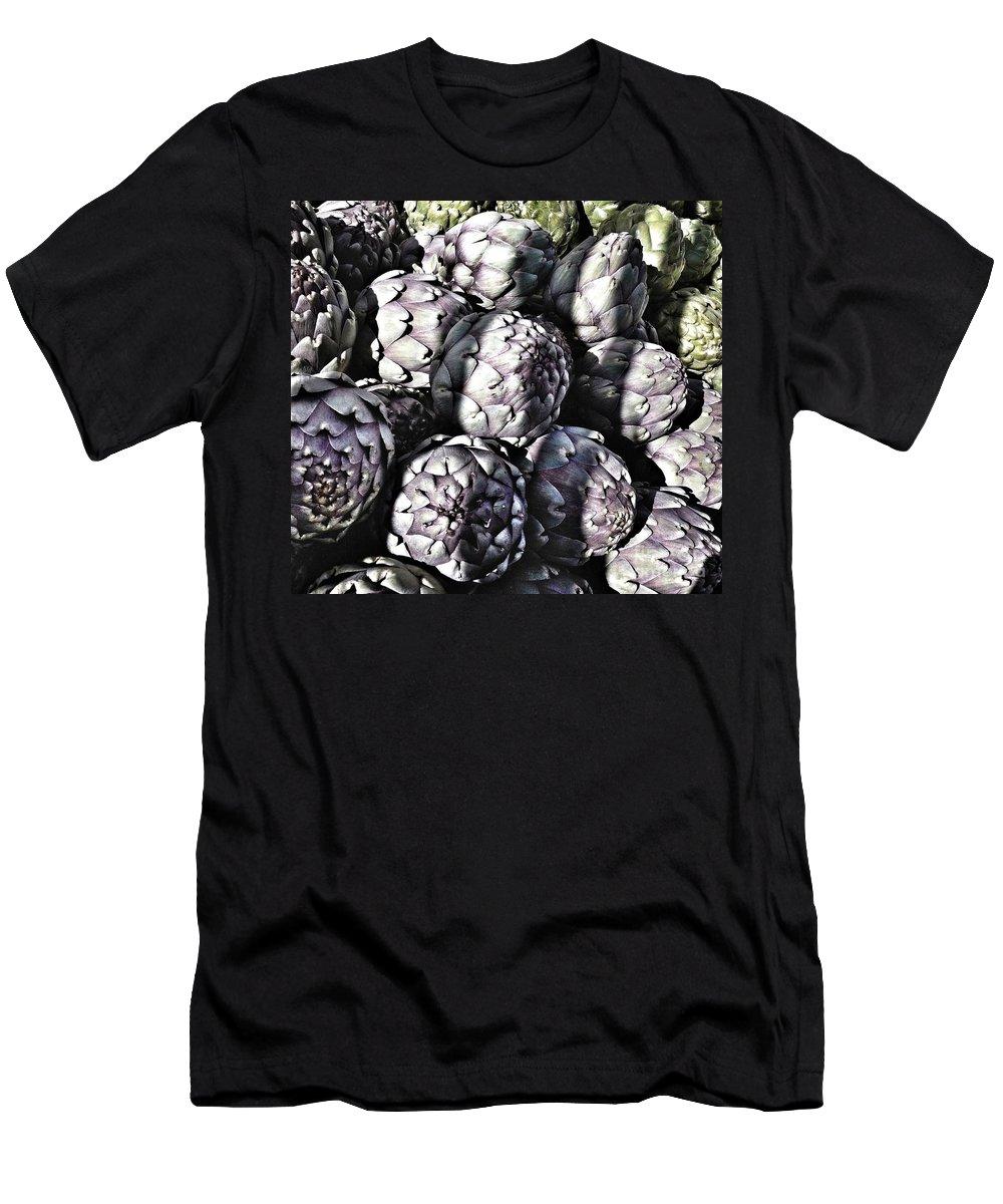 Artichokes Men's T-Shirt (Athletic Fit) featuring the photograph Artichokes by Susan Garren