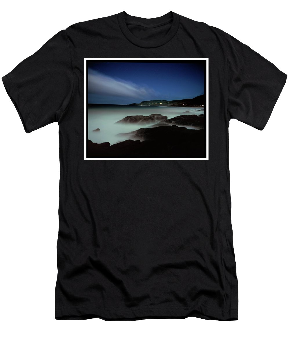 Australia Men's T-Shirt (Athletic Fit) featuring the photograph Artillery Rocks Looking Back To Kennet by Simon O'Dwyer