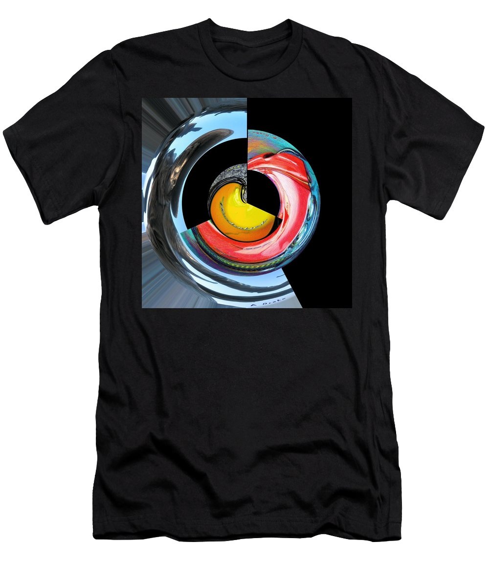 Abstract Men's T-Shirt (Athletic Fit) featuring the digital art Artist Junkyard by Alec Drake