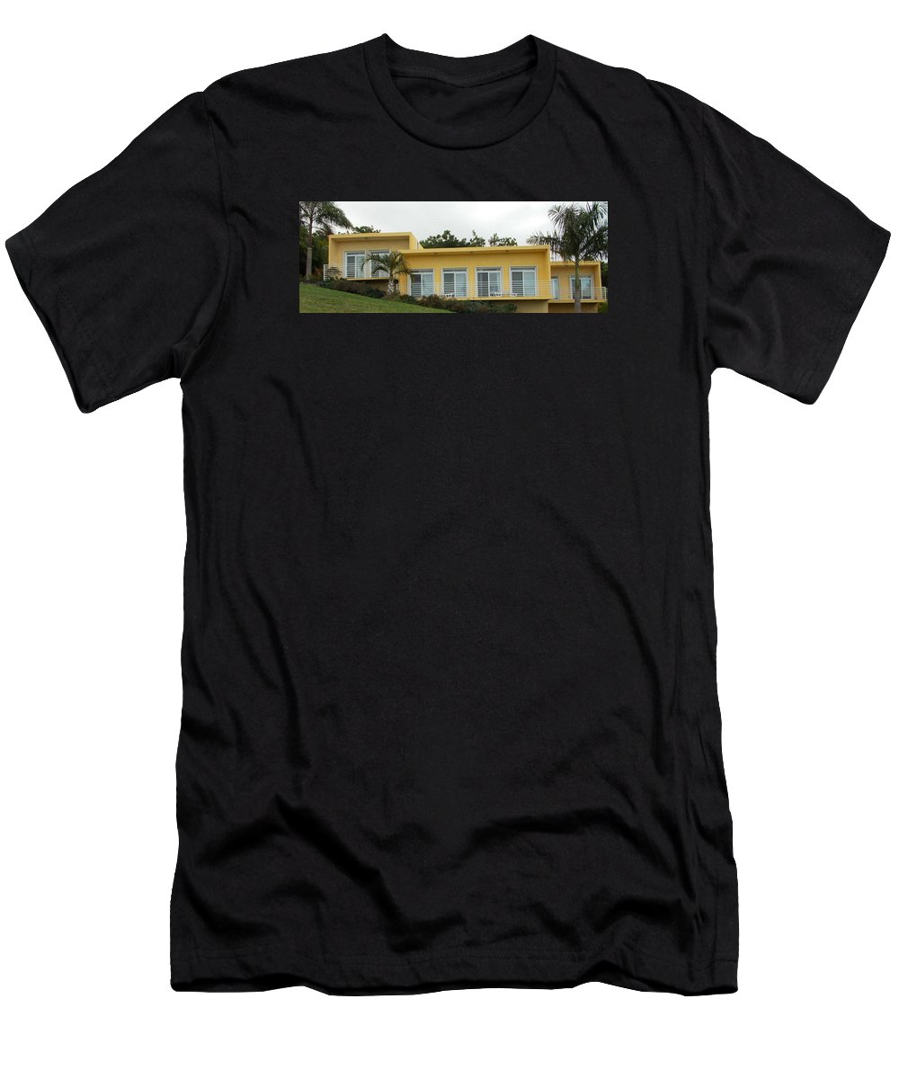 Artist Men's T-Shirt (Athletic Fit) featuring the photograph Artist Mod Retreat For Sale by Artist Ai