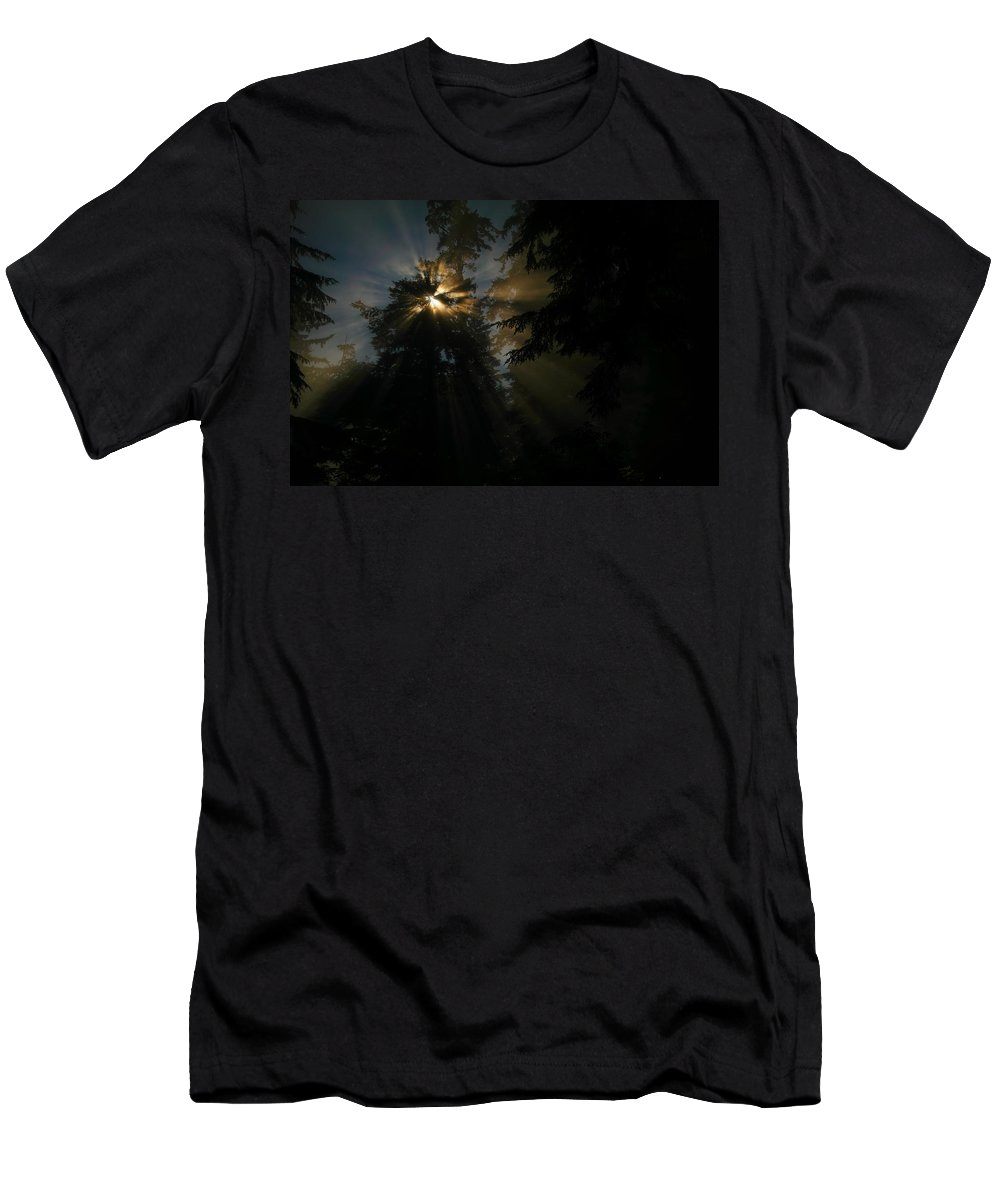 Sun Rays Men's T-Shirt (Athletic Fit) featuring the photograph As If I Needed Some Inspiration by Jeff Swan