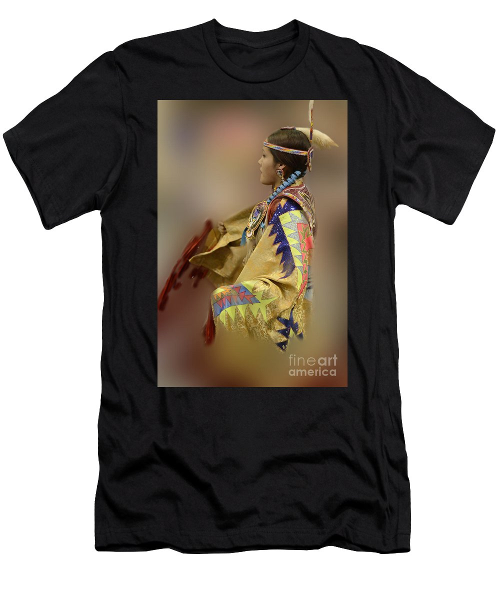 Pow Wow Men's T-Shirt (Athletic Fit) featuring the photograph Pow Wow As In A Dream 2 by Bob Christopher