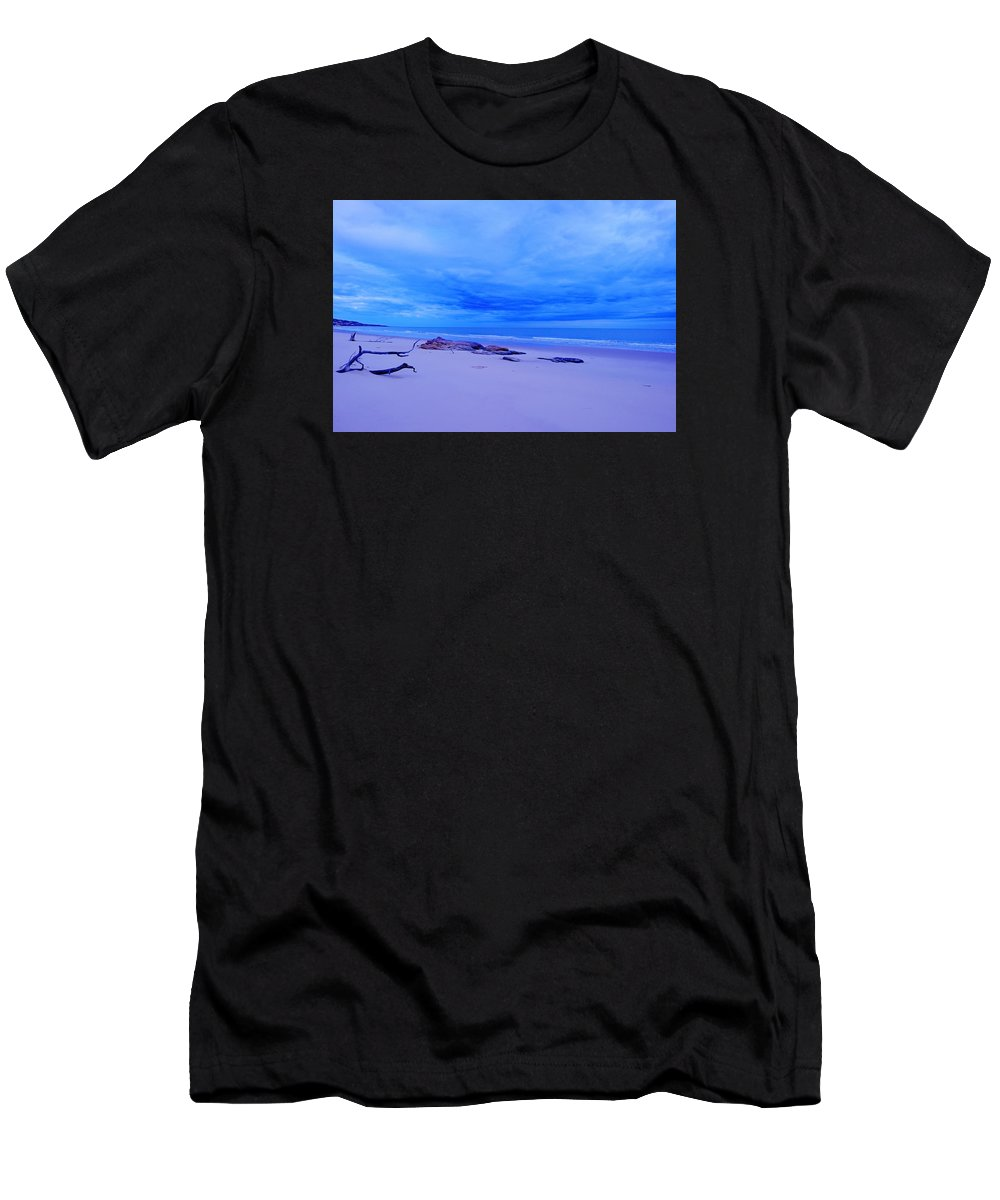 Sea Men's T-Shirt (Athletic Fit) featuring the photograph As The Storm Approaches by Penney Hayley