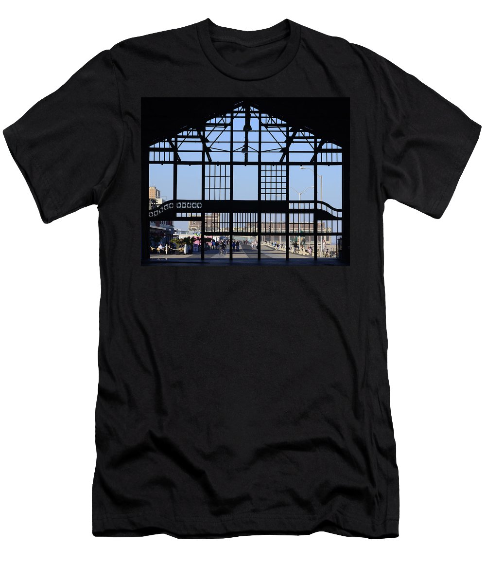 Asbury Park Men's T-Shirt (Athletic Fit) featuring the photograph Asbury Park by Lori Tambakis