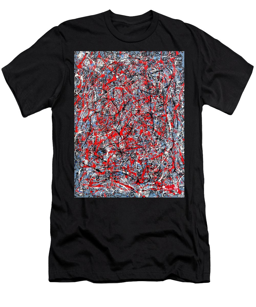 Abstract Men's T-Shirt (Athletic Fit) featuring the painting Astral Gate 2001 by RalphGM