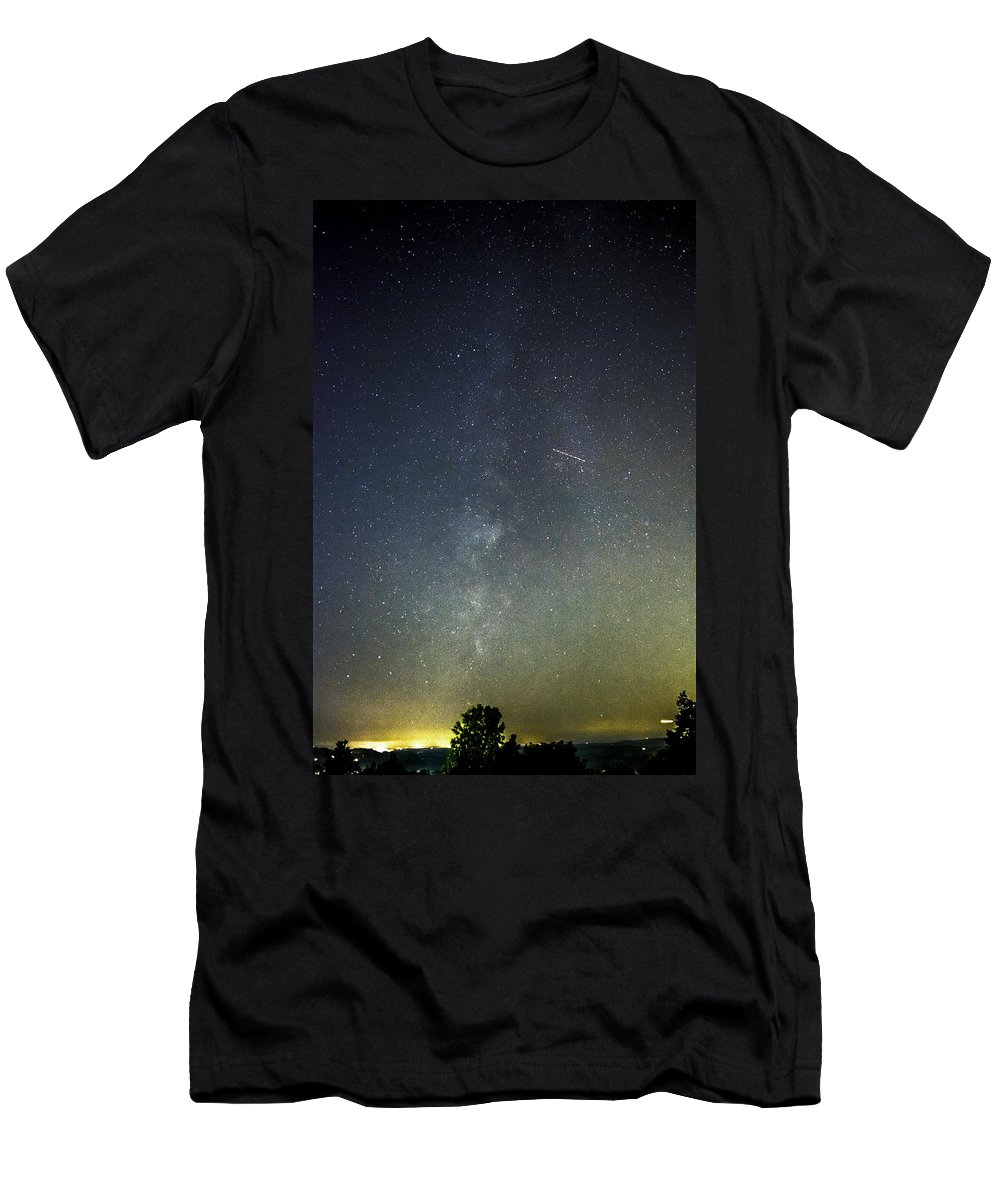 Milky Men's T-Shirt (Athletic Fit) featuring the photograph Astro Photography Milky Way by Tim Buisman