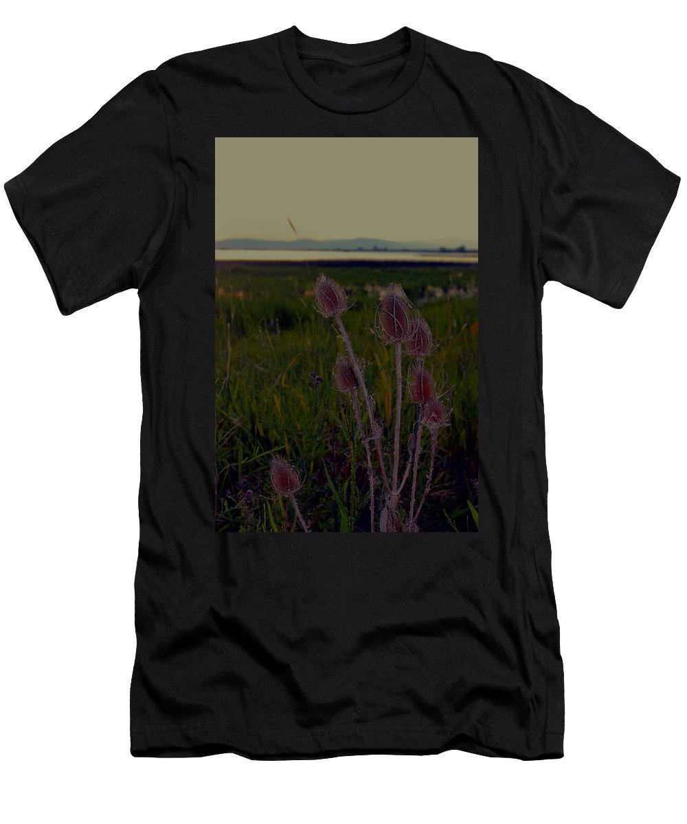Men's T-Shirt (Athletic Fit) featuring the photograph At Nine Pipes Montana by Cathy Anderson